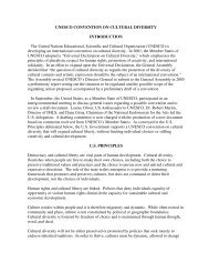 UNESCO CONVENTION ON CULTURAL DIVERSITY ... - ITI