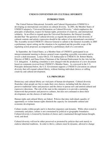 UNESCO CONVENTION ON CULTURAL DIVERSITY ... - ITI