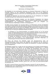 Arbeitsgrundsätze Mediathek und Erläuterung der Rechtefrage - ITI
