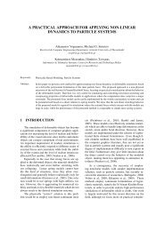 a practical approach for applying non-linear dynamics to particle ...