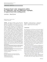 Frequency-based cache management policies for collaborative and ...