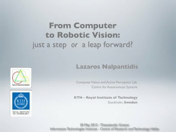 From Computer to Robotic Vision: just a step or a leap forward?