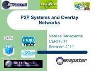 P2P Systems and Overlay Networks