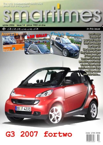 Smart Fortwo Gennuine Accessories Brochure Smart Usa Smart Car