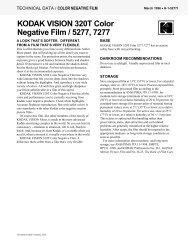 KODAK VISION 320T Color Negative Film / 5277, 7277