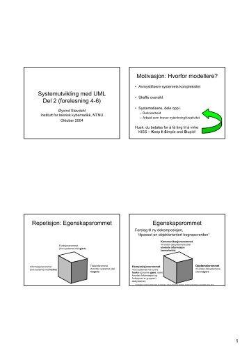 Systemutvikling med UML Del 2 - Institutt for teknisk kybernetikk ...