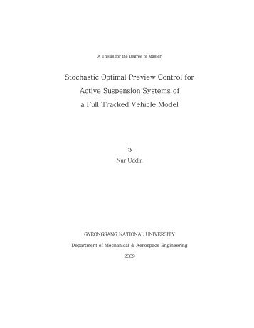 Stochastic Optimal Preview Control for Active Suspension Systems ...