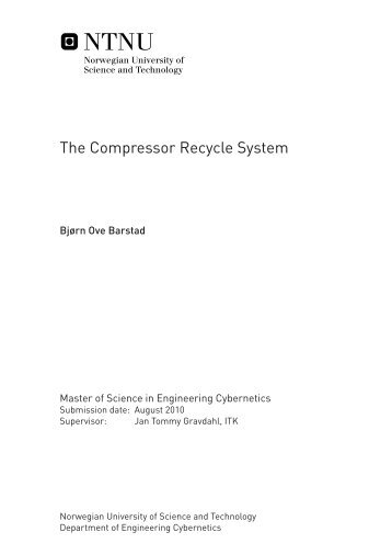 The Compressor Recycle System