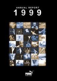 PUMA Annual Report 1999 - About PUMA