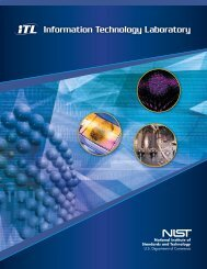 October 2007 - NIST Information Technology Laboratory - National ...