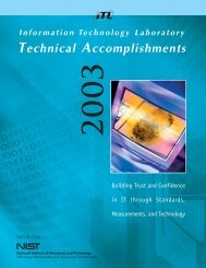 Technical Accomplishments - NIST Information Technology ...
