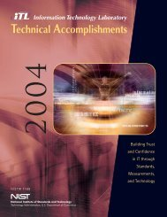 Report - NIST Information Technology Laboratory - National Institute ...