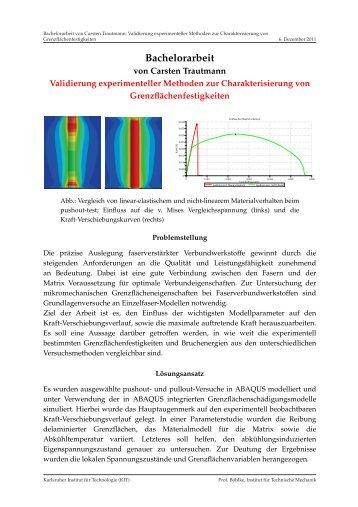 Validierung experimenteller Methoden zur Charakterisierung von ...