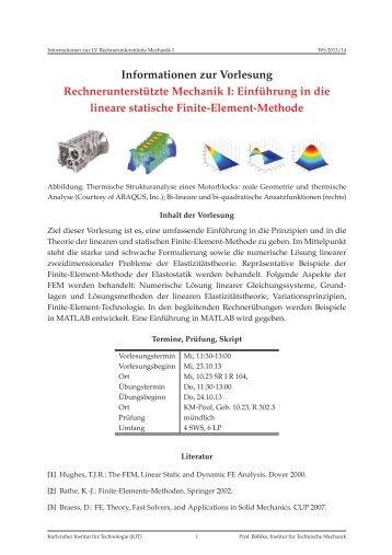 Ankündigung - am Institut für Technische Mechanik - KIT