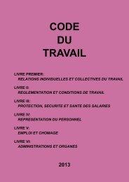 CODE DU TRAVAIL - 2013 - ITM