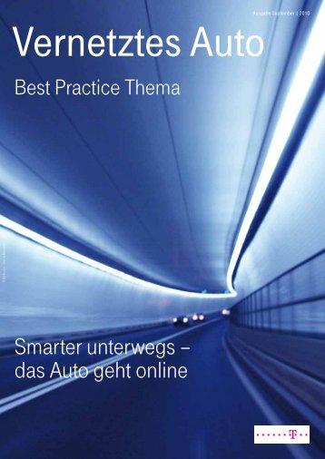 Smarter unterwegs – das Auto geht online - T-Systems