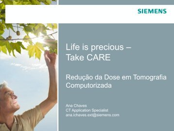 Redução da Dose em Tomografia Computorizada - Instituto ...
