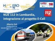 NUE 112 in Lombardia, integrazione al progetto E-Call - ITN