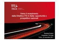 Verso il recepimento della Direttiva ITS in Italia: opportunità e ... - ITN