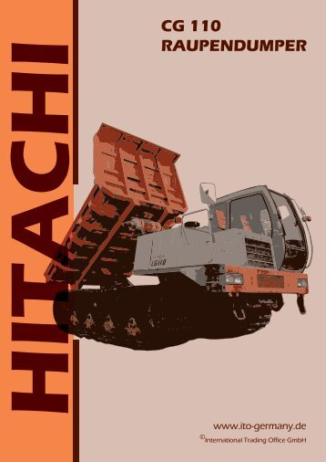 Raupentransporter-Hitachi-CG110-gebrauchter-Ket..