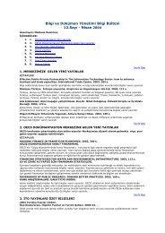 Bilgi ve Doküman Yönetimi Bilgi Bülteni 12.Sayı - Nisan 2004 - ITO