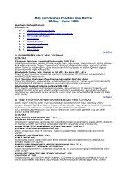 Bilgi ve Doküman Yönetimi Bilgi Bülteni 10.Sayı - Şubat 2004 - ITO