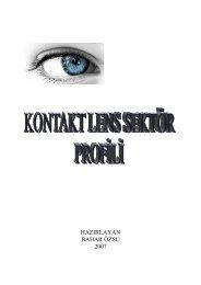 Kontakt Lens Sektör Profili 2007 - ITO