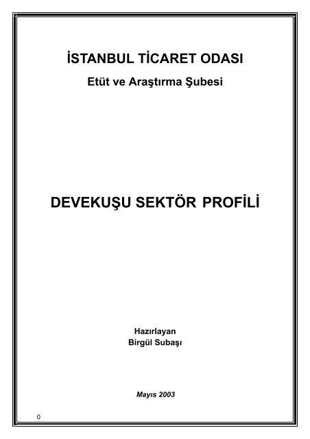 Deve Kusu Sektor Profili 2003 Ito