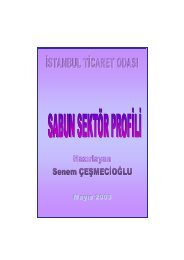 Sabun Sektör Araştırma Raporu 2003 - ITO