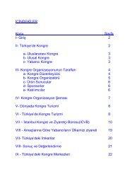 Kongre Turizmi Sektör Araştırması 2005 - ITO