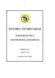 Kahverengi Eşya Sektör Araştırma Raporu 2002 - ITO
