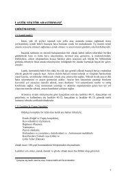 Lastik Sektör Araştırma Raporu 2000 - ITO
