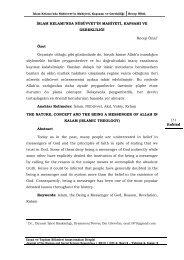 İslam Kelamı'nda Nübüvvet'in Mahiyeti, Kapsamı ve ... - Itobiad