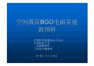 BGO电磁量能器设计方案与进展 - 中国科学院理论物理研究所