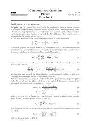 Computational Quantum Physics Exercise 3