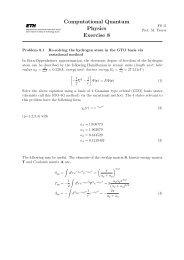 Computational Quantum Physics Exercise 8