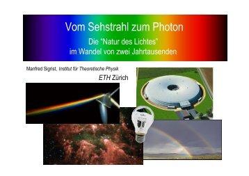 Vom Sehstrahl zum Photon - ETH Zürich