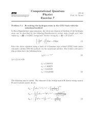 Computational Quantum Physics Exercise 7