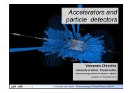 Accelerators and particle detectors - Institute for Theoretical Physics