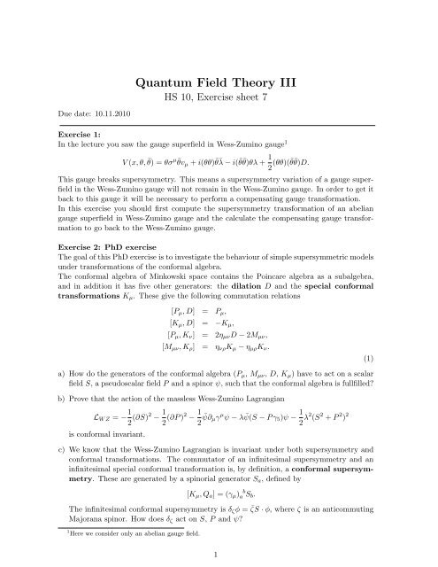 Quantum Field Theory III