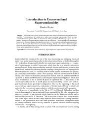 Introduction to Unconventional Superconductivity - Institute for ...