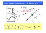 Nearly free electron approximation - simple cubic lattice