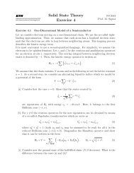 Solid State Theory Exercise 4