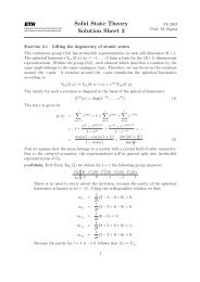 Solid State Theory Solution Sheet 3