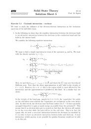 Solid State Theory Solution Sheet 5