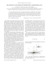 Spin relaxation in a GaAs quantum dot embedded inside a ...