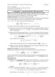 4. Übungsblatt – Theoretische Physik II: Quantenmechanik