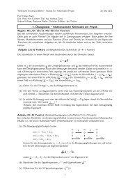 7. Übungsblatt – Mathematische Methoden der Physik - Institut für ...