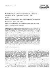 Gain-switched semiconductor laser amplifier as an ultrafast ...