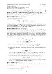 1. Übungsblatt – Theoretische Physik II: Quantenmechanik